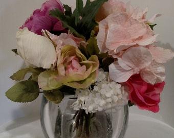 Easter Centerpiece, Wedding Centerpiece, Mother's Day Gift, Teacher Gift, Bridesmaid Gift, Silk Flower Arrangement