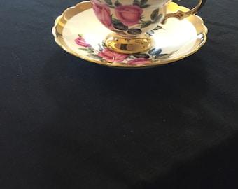 Rosina bone china 5335R3 tea cup and saucer