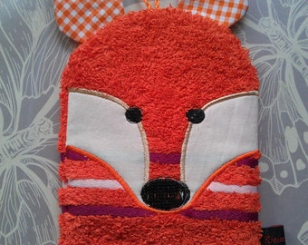 "Washcloth embroidered ""Fox"", 1 piece"