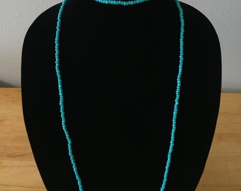 Turquoise Double Wrap Necklace