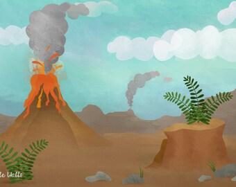 "Prehistoric Dramatic Play Banner 72x48"""