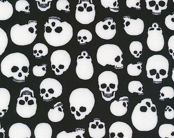 Skulls Print 4-Way Stretch Spandex Fabric by the yard (Z1)