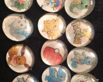 Pokemon glass magnets 6 pack