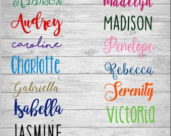 Personalized Name Decal Vinyl Monogram Sticker