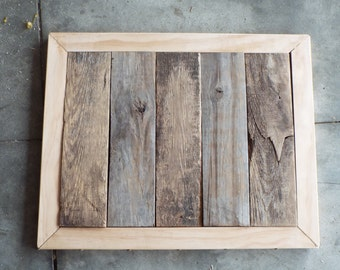 Pine and Pallet Wood End Table