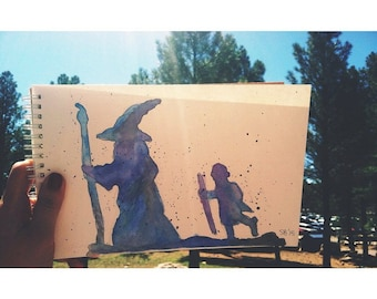 Lord of The Rings Watercolor Painting
