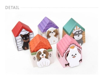 Cute doghouse sticky notes and/or bookmarks