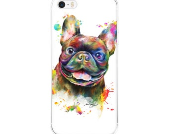 "French Bulldog ""Frenchie"" Portrait Phone Case iPhone"