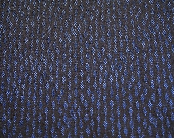 Very durable and stylish jacquard fabric, blue pattern on a black background