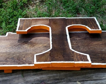 University of Tennessee UT Wooden Pallet Hand Painted/Stained Logo