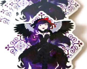 Madoka Magica Rebellion, Devil Homura, Magical Girls, Anime Sticker, Kawaii Sticker, Glitter Sticker