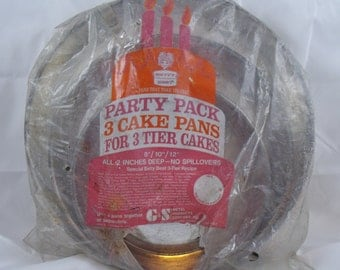 """3 Tier Cake Party Pack Pans 8""""/10""""/12"""" Betty Best  (23)"""