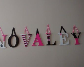 Personalized wooden letters