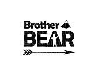 Brother Bear SVG PNG DXF file