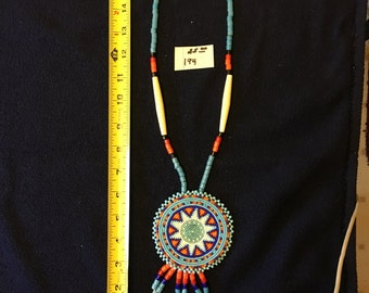Native American inspired beaded necklace