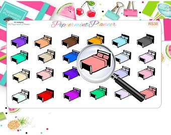 Sheet Day Stickers, Relax Stickers, Bed Stickers, Hand Drawn Stickers, Doodling Stickers, Erin Condren Stickers, {RS38}