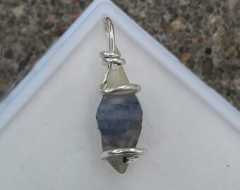 Sapphire crystal in sterling silver