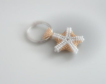 "Bag charms ""Caramel Star"" - minded romantic and water - caramel color -."