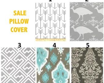 SALE  Halloween Pillow cases Outdoor Pillows Decorative Pillows GRAY 22x22 20x20, 18x18,  16X16, 14x16, 14x14, 12x16, 12x12, 10x10