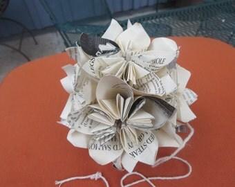 Vintage Recipes Origami Paper Ornamnet