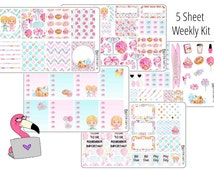 Gingerbread house and candy land - Weekly Full Kit Planner Stickers