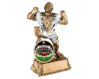 Fantasy Football Monster Trophy with 3 lines of custom text