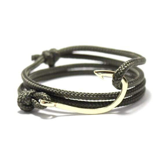Fish hook bracelet fish hook rope by uniontradingcompany for Mens fishing bracelet