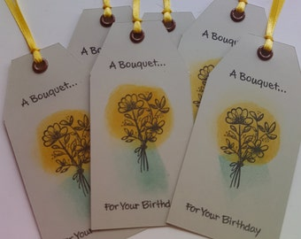 Birthday Bouquet Tags