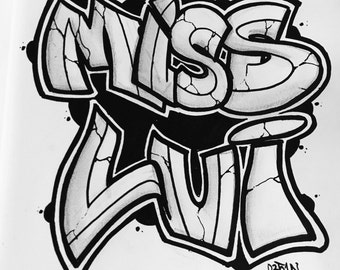 Custom Graffiti Illustrations