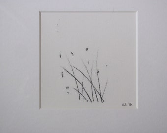 Cotton Grass Monoprint