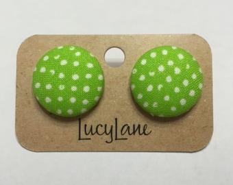 Lime Polka Dots