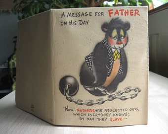 Hallmark / Hall Brothers Rufftex Father's Day card - 1950's