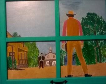 hand painted Opening Scene of Gunsmoke