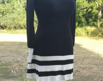 diamond & stripe vintage dress
