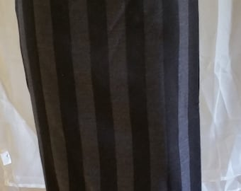 Black/Grey striped long skirt