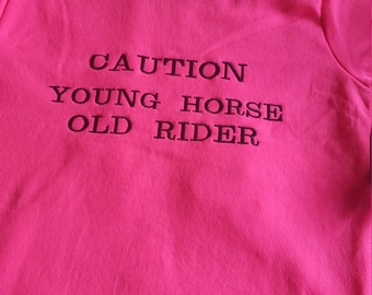 Pink neon be seen riding hoody