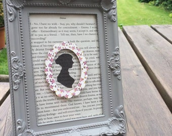 Jane Austen Silhouette Frame