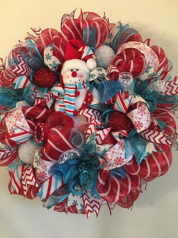 Snowman Christmas Wreath Sale