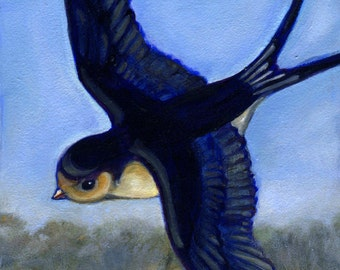 Swallow Print, Bird Art