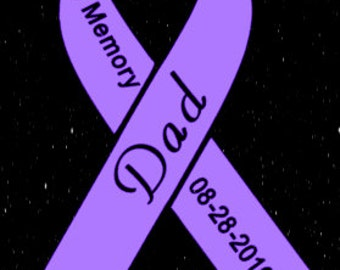 In Memory Ribbon car decal