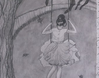 """Charcoal child drawing """"Innocence"""""""