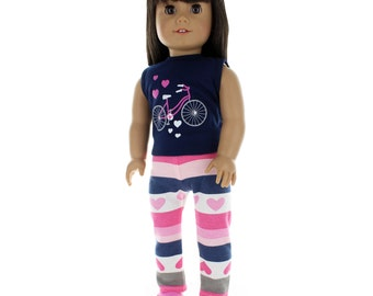 Tank Top and Sweatpants Outfit Fits American Girl Doll, My Life Doll, Our Generation and other 18 inch Dolls