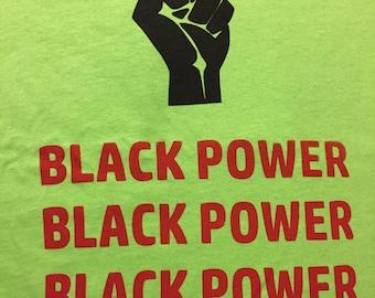 Lime Green Black Power