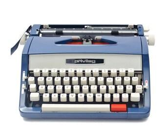 Blue Privileg typewriter