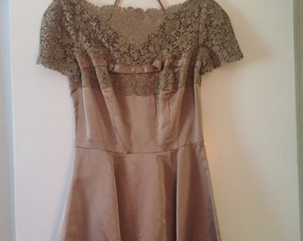 Satin lace dress
