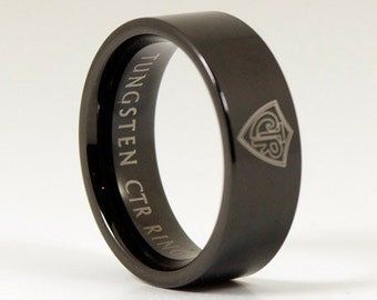 Black Tungsten CTR Ring 8mm