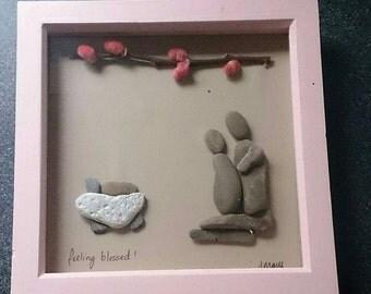 Pebble Art - Feeling Blessed