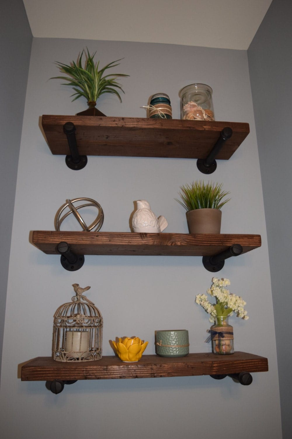 floating wood shelves industrial wooden iron shelf rustic floating shelf wooden 29010