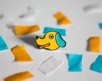 Silly Pupper Enamel Pin Free Shipping