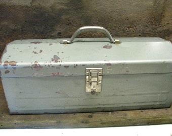 Antique Metal Tool Box.